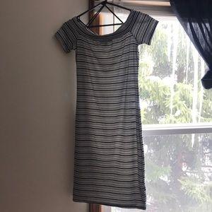 Dresses & Skirts - Striped off the shoulder dress